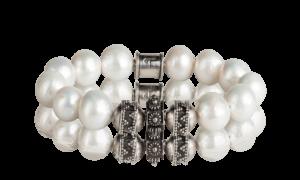 Divine sparkling white pearl - Tokah bracelet